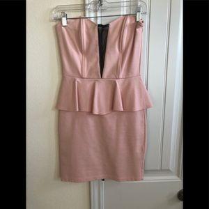 Blush pink dress - party dress